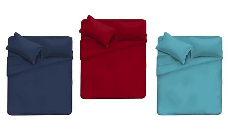 Juegos de sábanas elegantes de microfibra para cama individual o doble Oferta en Groupon