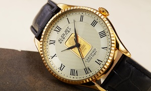 Men's August Steiner AS8217 0.10G Plate of Pure Gold Strap Watch