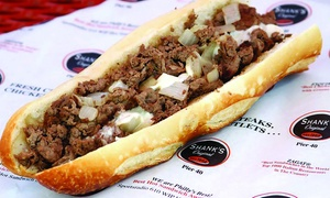 Beef Or Chicken Cheesesteaks, Fries, And Drinks For Two Or Four At Shank