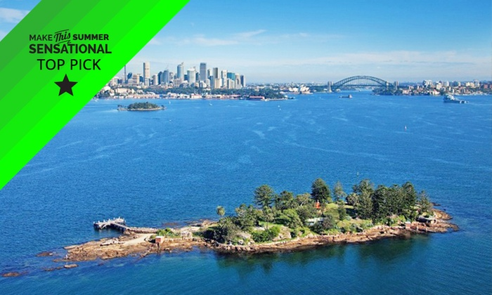 Sydney Harbour Discovery - Outside of Cargo Bar: From $39 (+$7 Park Entry Fee) for a 3-Hour Shark Island Cruise and BBQ with Sydney Harbour Discovery (From $89 Value)
