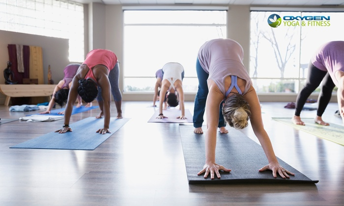 Oxygen Yoga & Fitness - Multiple Locations: C$8 for One-Week Unlimited Yoga and Fitness Classes at Oxygen Yoga & Fitness