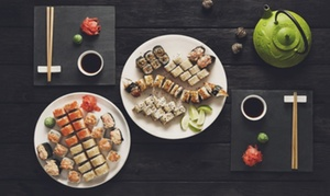 Sushi Dozo: Menu sushi all you can eat per 2 o 4 persone con sake da Dozo Sushi in Corso Re Umberto (sconto fino a 47%)