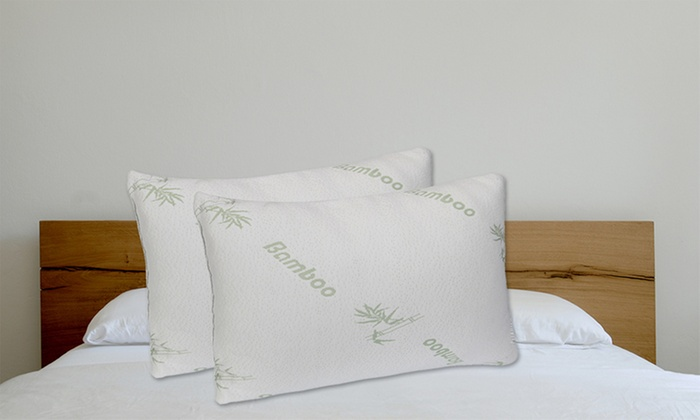 1day 29 for two large bamboo memory foam pillows