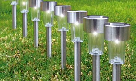 Solar LED Garden Pathway Stake Lights (12- or 24-Pack)