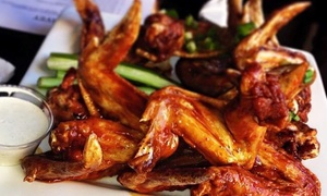 Ray J's American Grill: Pub Grub Meal for Two with Wings at Ray J's American Grill (44% Off). Two Locations.