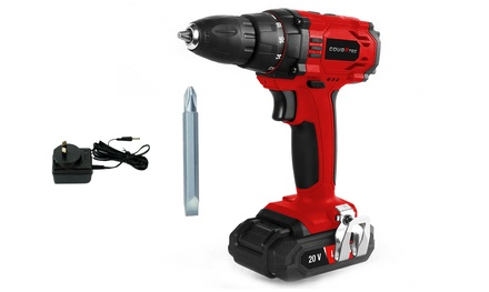 $39 for a 20V Cordless Drill Driver with Lithium Battery, Charger Kit and DoubleSided Drill Bit