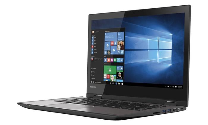 "Toshiba 14"" Convertible Touchscreen Laptop (Refurbished): Toshiba 14"" Convertible Touchscreen Laptop with Intel Core i3-5015U CPU, 6GB RAM, and 500GB HDD (Refurbished)"