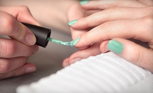 One Or Two Deluxe Mani-pedis With Optional No-chip Fingernail Polish At Cover Me Boutique Spa (half Off)