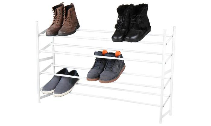 Schoenenrek Wit Metaal.Wit Metalen Schoenenrek Groupon Goods