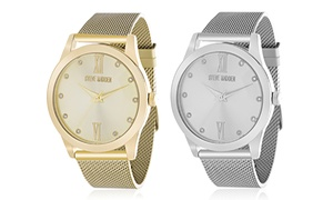 Steve Madden Women's Mesh Band Watch