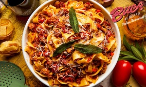 $10 for $20 Toward Buca di Beppo's New Fall Family-Style Italian Menu at Buca di Beppo, plus 6.0% Cash Back from Ebates.