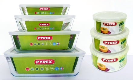 Six, Eight or FourteenPiece Pyrex Glass Container Set
