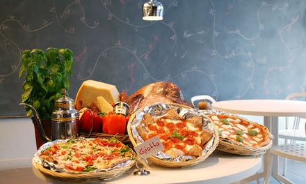 Pizza and Italian Food for Dine-In at Giotto Maestro Della Pizza (47% Off). Two Options Available.