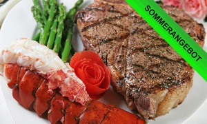 Brothers and Meat Steakhouse: Surf 'n' Turf mit Beilagen für ein, zwei oder vier Personen im Brothers and Meat Steakhouse (bis zu 27% sparen*)