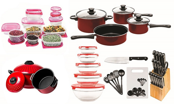 Up To 38 Off On Non Stick Cookware Set 84 Pc Groupon Goods