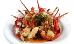 Lobster Cave: Seafood Dinner with Wine ($99) or Seafood Platter with Champagne ($149) for Two at Lobster Cave (Up to $399 Value)