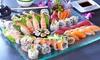 Barca sushi da 40 pezzi e vino