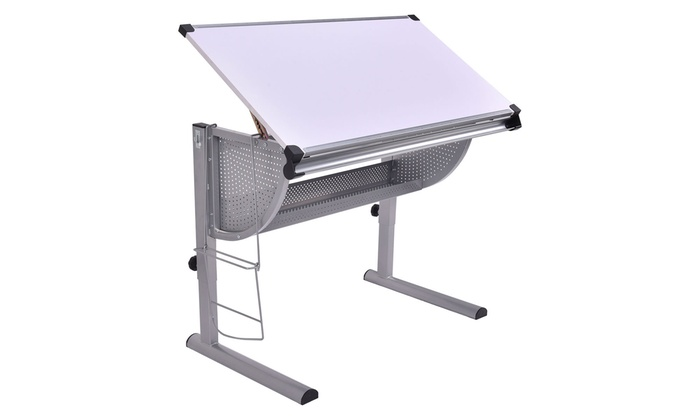 Terrific Tiltable And Adjustable Art Table Groupon Goods Download Free Architecture Designs Embacsunscenecom