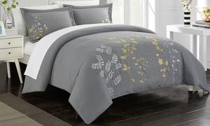 Chic Home Samantha Floral Embroidered Duvet Set (3-Piece)