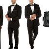 Slim Fit Tuxedo with Free Matching Bow Tie and Pocket Square
