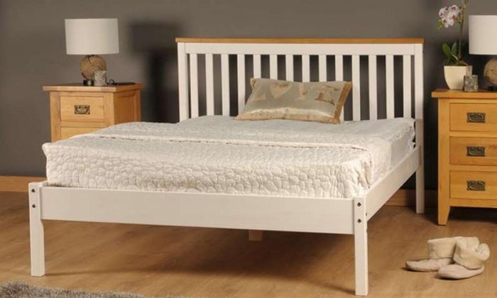 Medina Wooden Bed Frame with Optional Mattress