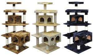 """GoPetClub 61"""" Multi-Tier 2-Condo Cat Tree Furniture"""