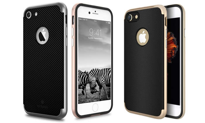 Groupon Goods Global GmbH: Hard Cover für iPhone 7 in Carbon-Optik und der Farbe nach Wahl (67% sparen*)