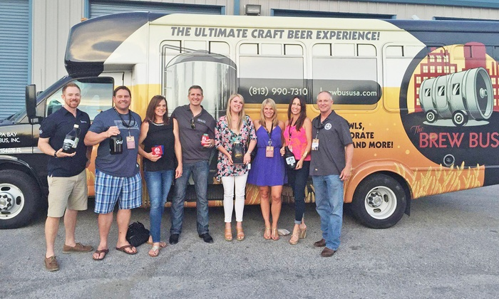 The Brew Bus Jacksonville - Multiple Locations: Sampler Tour for One or Two or Full-Pour Tour with The Brew Bus (Up to 46% Off)