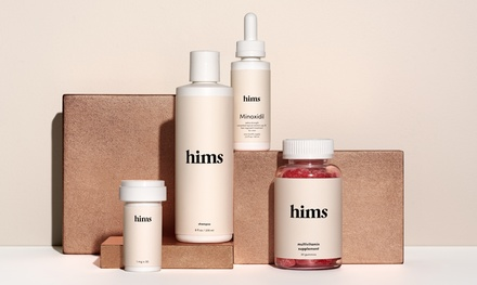 Free One Month Complete Hair Kit Trial for Male Pattern Baldness from Hims