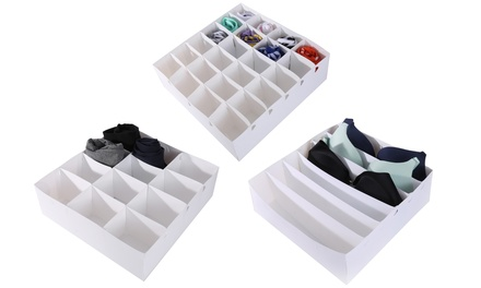 3 boites de rangement multifonction, plastique Periea