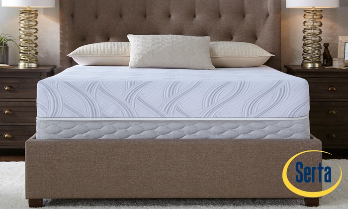 Image Placeholder Image For Serta Kentland Gel Memory Foam Mattress Set.  Free White Glove Delivery