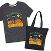 """Toddler & Kids Pete The Cat """"Glow"""" Trick or Treat Tee and Tote Set"""