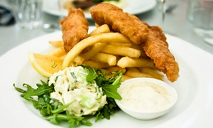 Waterfront Brasserie: Fish and Chips For Two at Waterfront Brasserie (65% Off)