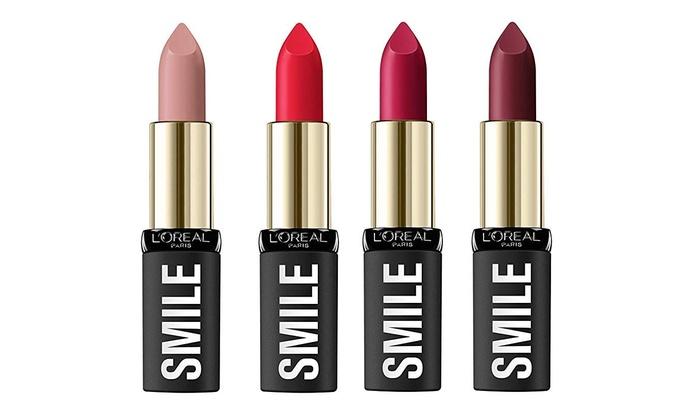 Ensemble de 4 rouges à lèvres L'Oréal Color Riche
