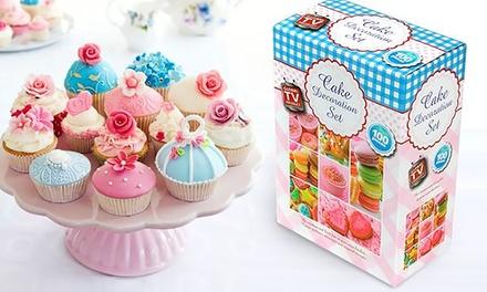 Cake Decorating Kit Groupon : 100- or 200-Piece Cake Baking and Decorating Set from ...