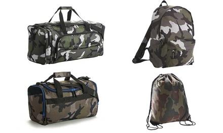 Bolsas de viaje y mochilas con diseño camuflaje