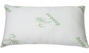 Bamboo Hypoallergenic King Size Memory Foam Pillow (1- or 2-Pack)