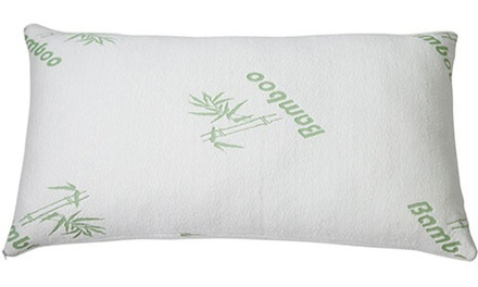 Bamboo-Rayon Hypoallergenic Memory-Foam Pillow (1- or 2-Pack)