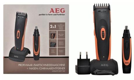 Tagliacapelli e barba AEG HSM/R 5597 NE con tagliapeli per naso e orecchie