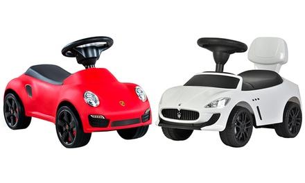 Porteur pour enfant Bentley, Maserati, Ferrari F458 ou Porsche 911 Turbo S