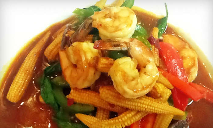 Thai Corner Kitchen - Greensboro: Dinner with Appetizer for Two, or Lunch for Two at Thai Corner Kitchen (Up to 57% Off)