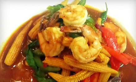 Dinner with Appetizer for Two, or Lunch for Two at Thai Corner Kitchen (Up to 57% Off)
