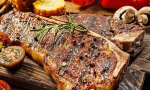 Toscanaccia: Menu fiorentina da 1,2 kg circa con antipasto, dolce e bottiglia di vino per 2 o 4 persone da Toscanaccia (sconto 58%)