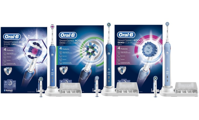 Oral-B Smart Series 4000: 3D White, Cross Action or Sensi Clean Toothbrush for £49.99 With Free Delivery (58% Off)
