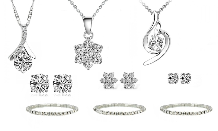 Fakurma UK: Earrings and Pendant Made with Swarovski Elements from AED 79 With Free Delivery (Up to 85% Off)