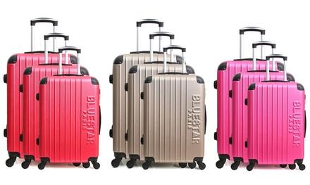 Set di 3 valigie in ABS Bluestar