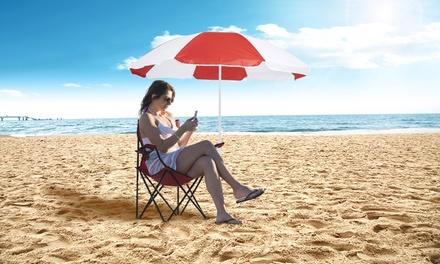 Sombrilla y silla de playa a juego