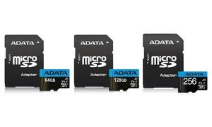 ADATA 64GB, 128GB, or 256GB A1 microSDXC Memory Card with Adapter