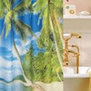 Cebu Tropical Fabric Shower Curtain