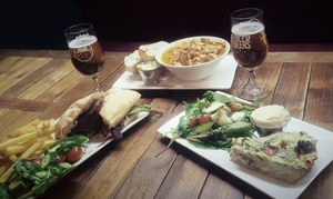 The Hippo Taproom: Main Course with Side and a Drink for Two or Four at The Hippo Taproom (Up to 47% Off)